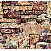 Stone And Wood 6010 Doğal Taş Desenli Duvar Kağıdı
