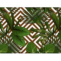 Elemental 42021-4 Yeşil Yaprak Desenli Duvar Kağıdı