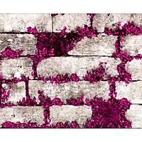 Elemental 42005-3 Mor Çiçekli Taş Duvar Kağıdı