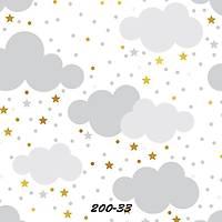 Stars And Points 200-33 Bulut Desen Çocuk Odasý Duvar Kaðýdý
