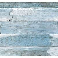 Stone And Wood 6116 Mavi Ahşap Görünümlü Duvar Kağıdı