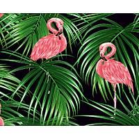 Elemental 42022-3 Tropikal Yapraklar Flamingo Görünümlü Duvar Kağıdı