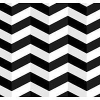 3D Art 7063 Siyah Beyaz Zigzag Duvar Kağıdı