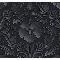 New Selection 306-1 Siyah Damask Desenli Duvar Kağıdı