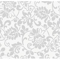 Gekkofix 10135 Beyaz Zemin Gümüþ Çiçekli Ýthal Folyo