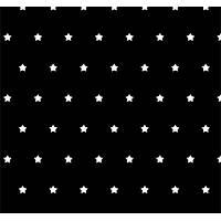 Pop Art 512102 Siyah Beyaz Yýldýz Görünümlü Duvar Kaðýdý