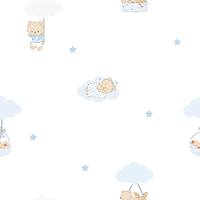Milky Baby 400-2 Erkek Bebek Odasý Duvar Kaðýdý