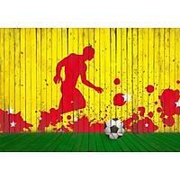 DL 4041 Sarý Kýrmýzý Futbol Duvar Posteri