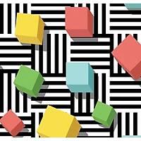 3D Art 7057 Renkli Kutular 3D Duvar Kağıdı