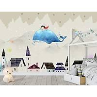 DL 7091 Mavi Balina Çocuk Odasý Duvar Posteri