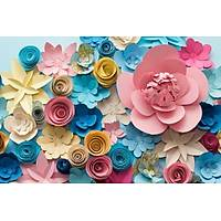 DL 7040 Çiçek Motifli Duvar Posteri
