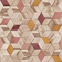Hexagone L593-10 Renkli Küp Desenli Duvar Kaðýdý
