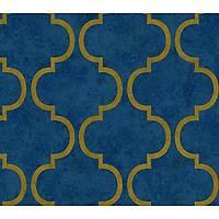 Ýndigo 4703-6 Geometrik Desenli Non Woven Duvar Kaðýdý