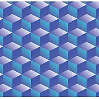 3D Art 7022 Mavi Küp Desenli Duvar Kaðýdý
