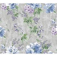 Ýndigo 4708-3 Mavi Çiçek Görünümlü Duvar Kaðýdý