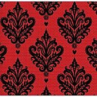 Classic Collection 4401 Kırmızı Siyah Damask Duvar Kağıdı