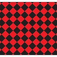 New Selection 331-3 Siyah Kýrmýzý Baklava Desen Duvar Kaðýdý