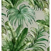 İndigo 4714-3 Tropikal Yaprak Desenli Duvar Kağıdı