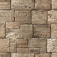 Vision 206-C Kare Taş Desenli Duvar Kağıdı