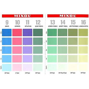 Mixol Renk Tüpü Eflatun No 11