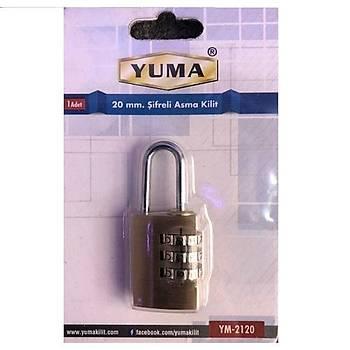 Yuma Þifreli Asma Kilit 20 mm
