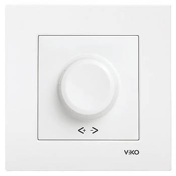 Viko Karre Rotatif Dimmer Rl 600 W/va Çerçeve Dahil