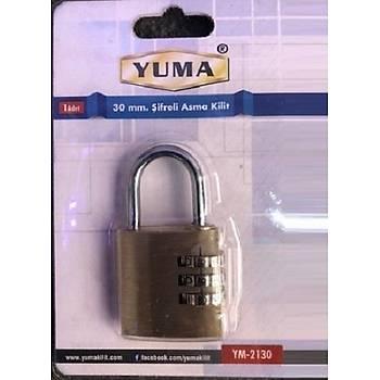 Yuma Þifreli Asma Kilit 30 mm