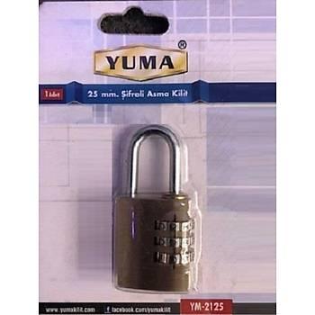 Yuma Þifreli Asma Kilit 25 mm