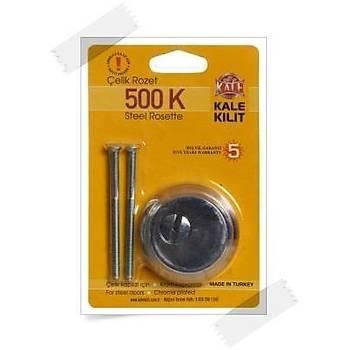 Kale 500k Çelik Rozet Krom