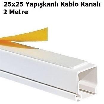 Yapýþkanlý Kablo Kanalý 25x25 mm 2 Metre 5 Adet