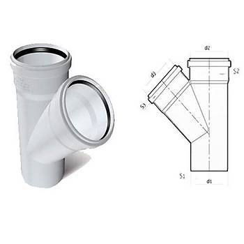 Plastherm Pvc Tek Çatal 100x70 mm