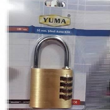 Yuma Þifreli Asma Kilit 50 mm