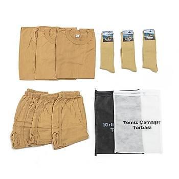 Bedelli ve Acemi Er Asker Giyim Malzemeleri Seti 3'lü
