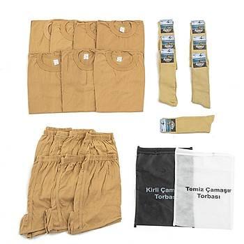 Bedelli ve Acemi Er Asker Giyim Malzemeleri Seti 7'li