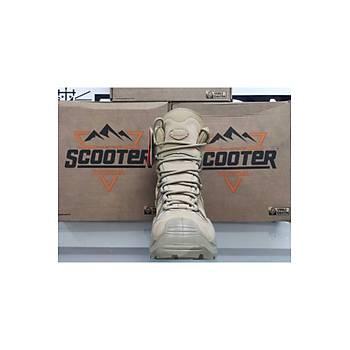 Scooter Askeri Bot 4 Mevsim Fermuarlý Bej