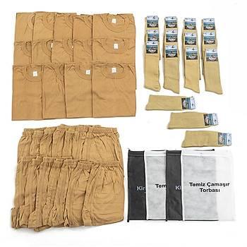 Bedelli ve Acemi Er Asker Giyim Malzemeleri Seti 14'lü