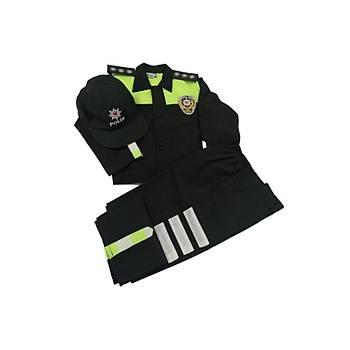 Çocuk Trafik Polis Kostümü