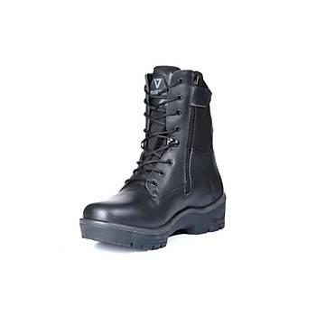 Unisex Siyah Askeri Tip Deri Su Geçirmez Venda Alp Model