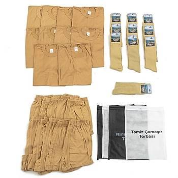 Bedelli ve Acemi Er Asker Giyim Malzemeleri Seti 10'lu