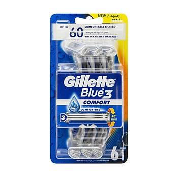 Gilette Blue 3 6'lý Paket Traþ Býçaðý