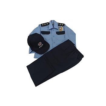 Çocuk Polis Mavi Üniforma Takým