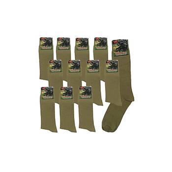 Askeri Yazlýk Likralý Nano Çorap 12'li