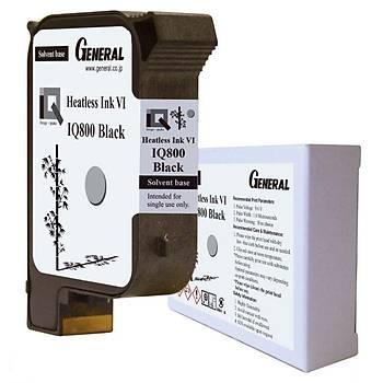 General IQ800 Heatless Solvent Siyah Kartuþ
