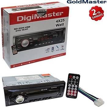 GOLDMASTER/DÝGÝMASTER SD-2105 USB OTO RADYO ÇALAR