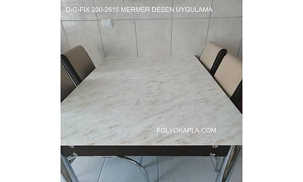 d-c-fix 200-2615 Kahve Hareli Krem Zemin Mermer Yapýþkanlý Folyo Uygulama