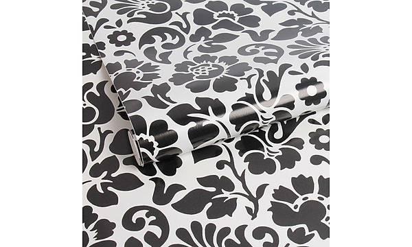 d-c-fix 200-3098 Siyah Beyaz Çiçekli Yapýþkanlý Folyo