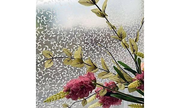 Alkor D-c-fix 280-8034 Sarmaþýk Çiçek Transparan Cam Yapýþkanlý Folyo 67,5cm x 1mt