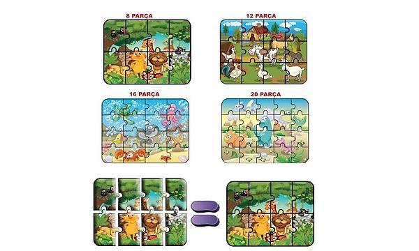 DiyToy 1481 Süper Renkli Puzzle