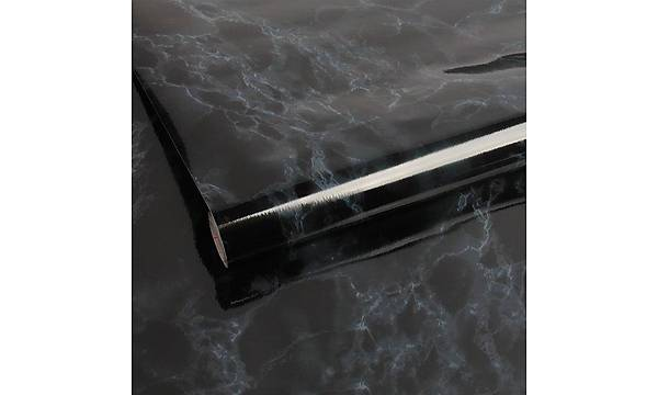 d-c-fix 200-5391 Siyah Mavi Dumanlý Mermer Yapýþkanlý Folyo 90cm x 1mt