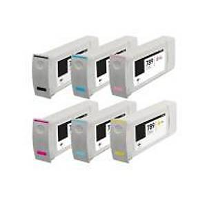 HP DesignJet L25500 Altı Renkli Mürekkep Kartuşları Seti - 775ml